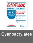 Bondloc Cyanoacrylates by Mettex Fasteners