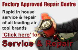 Rapid in house service & repair of all leading air tool brands